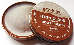Web-tex Military Boot Polish - Brown