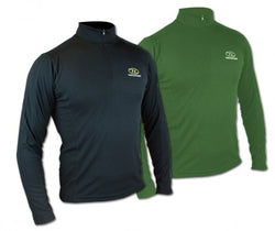 Highlander Climate X 160 Long Sleeved Olive Green Zip Neck Top