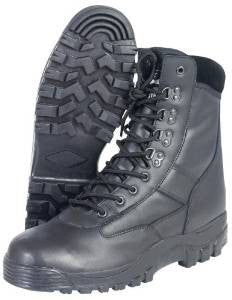 Milcom All Leather Black Patrol Boots