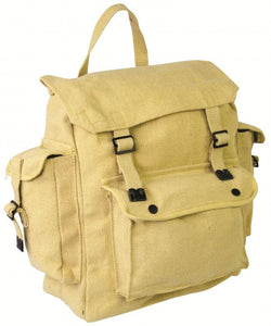 Highlander Large Beige Pocketed Web Backpack