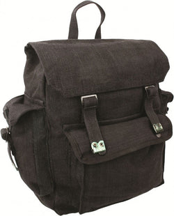 Highlander Large Black Pocketed Web Backpack