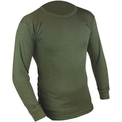 Highlander Long Sleeve Olive Green Thermal Vest
