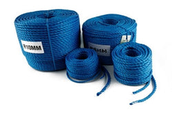 Tarpaflex Blue 3 Strand Twisted Polypropylene Rope Coils