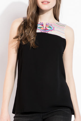 BRINKLEY Embroidered Top
