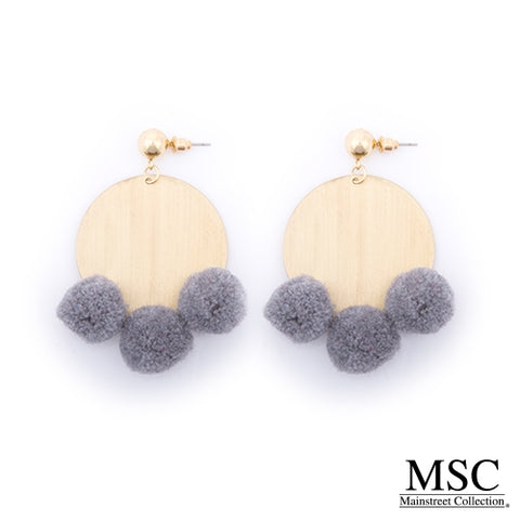 PIPER Pom-Pom Disc Earring (More Colors)