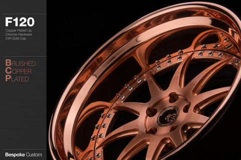 Brushed copper plated