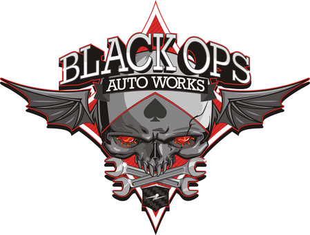 Black Ops Auto Works Logo