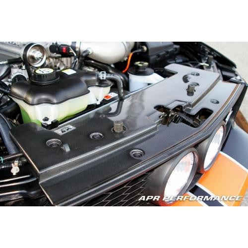 APR CF Radiator Cover: Mustang S197 05-09 - Black Ops Auto Works