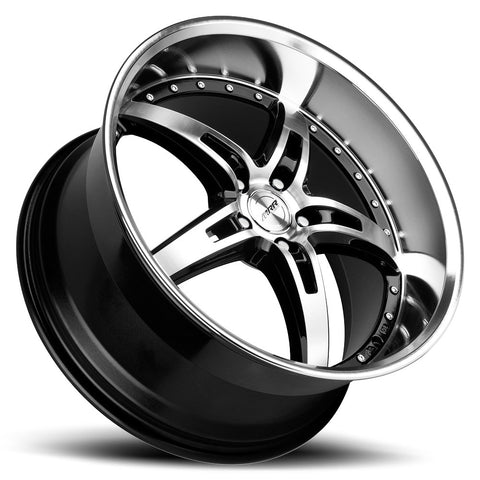 MRR GT5 Wheel: Black Mirror Finish