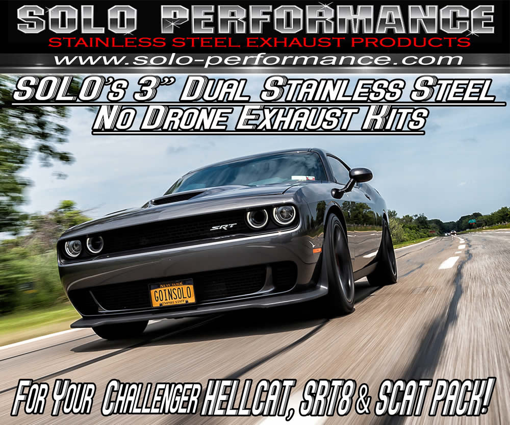 Mach-Shorty-XV Exhaust Dodge Chally Hellcat/ Scat Pack/ SRT-8