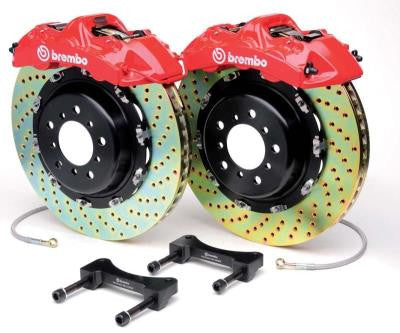 Brembo GT 1pc (Rears-Drilled-Red): FRS/ BRZ