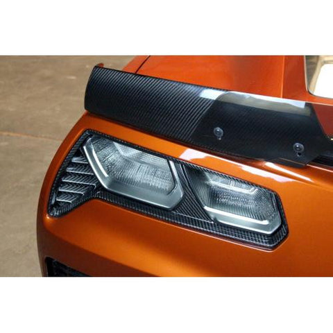 APR CF Rear Tail Light Bezels C7 2014+