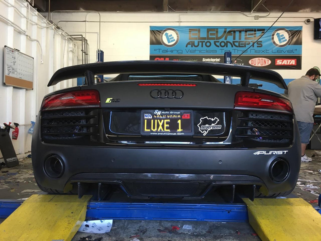 2010-2014 AUDI R8 CARBON FIBER V8 STYLE DIFFUSER - Black Ops Auto Works