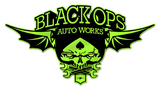 Black Ops Flyer Logo: Lime Green - Black Ops Auto Works