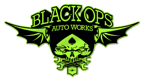 Black Ops Flyer Logo: Lime Green