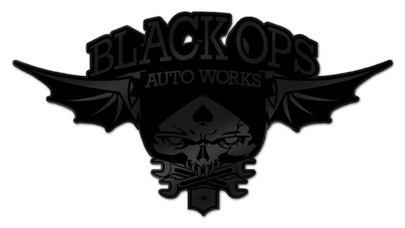 Black Ops Flyer Logo: Matte Black - Black Ops Auto Works