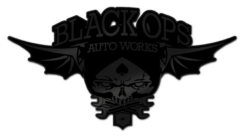 Black Ops Flyer Logo: Matte Black