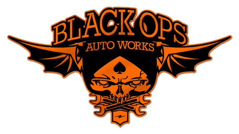 Black Ops Flyer Logo: Orange