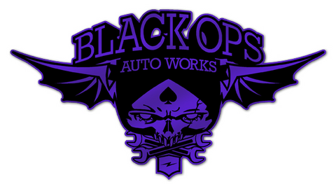 Black Ops Flyer Logo: Purple