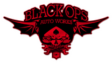Black Ops Flyer Logo: Red - Black Ops Auto Works