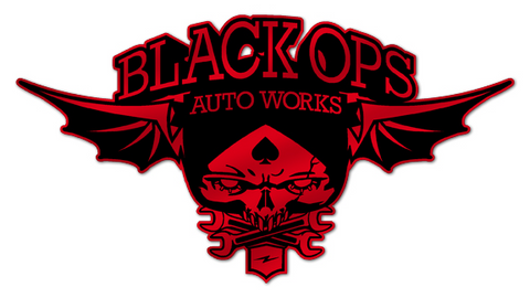 Black Ops Flyer Logo: Red