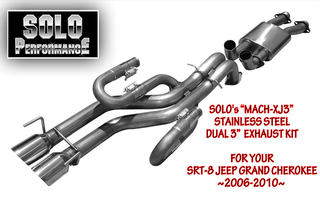 SRT-8 Jeep Grand Cherokee Solo Exhaust PT#991710
