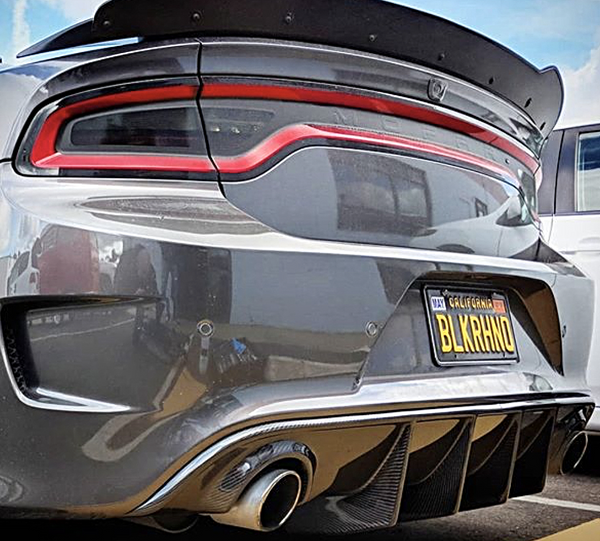 2016 Dodge Charger Carbon Fiber Rear Diffuser