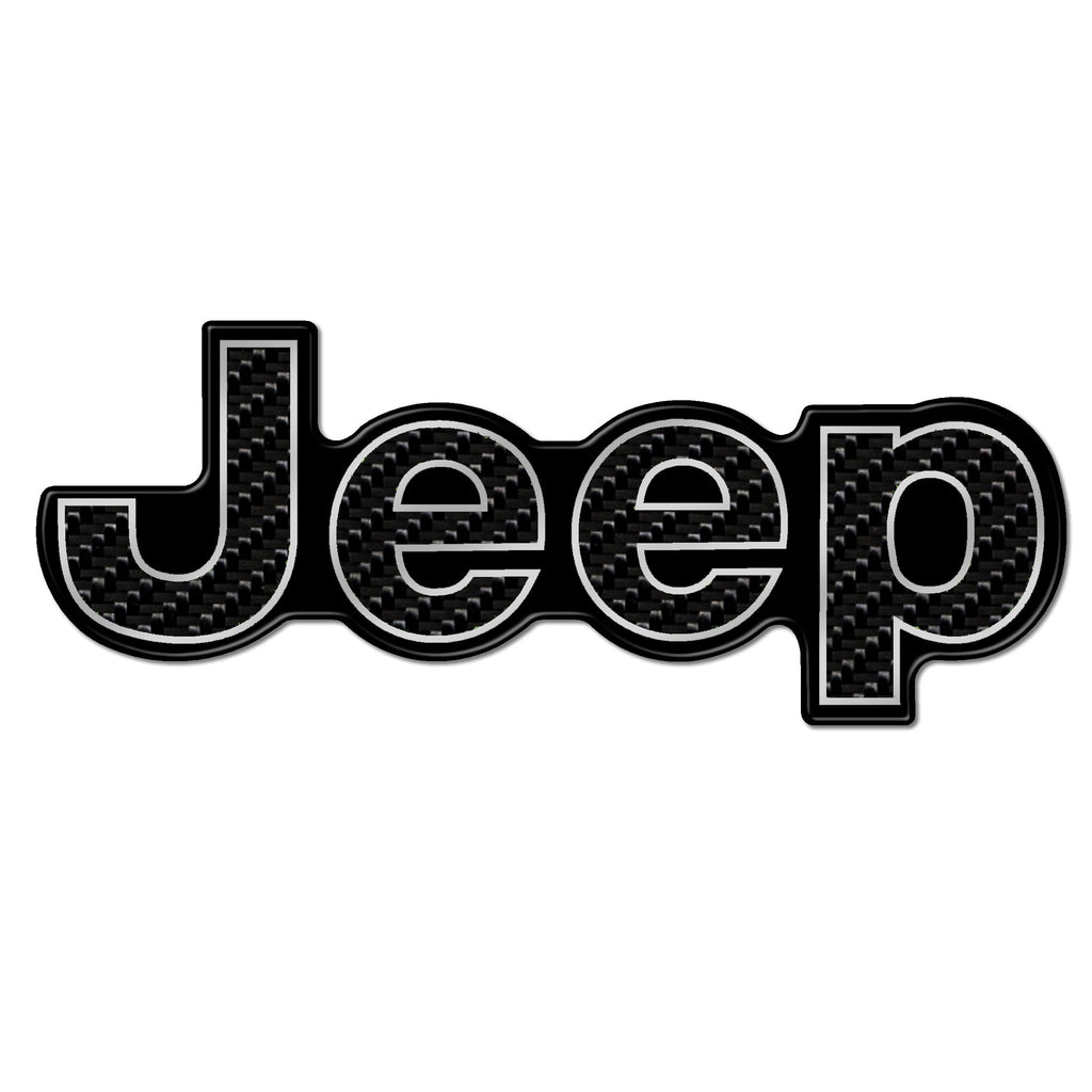 CARBON FIBER JEEP TRUNK BADGE