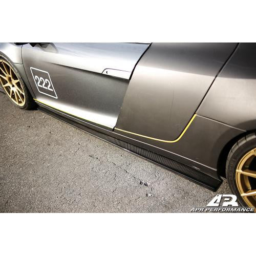 APR CF Side Rocker Extenders R8 2006+ - Black Ops Auto Works
