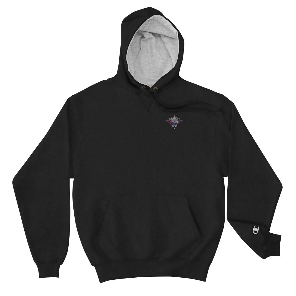 Embroidered Champion Hoodie By Black Ops