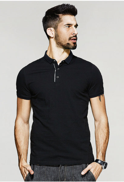 Black Polo T-Shirt - Manvsture