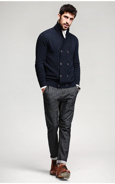 Casual Slim Fit Cardigan For Men - Manvsture