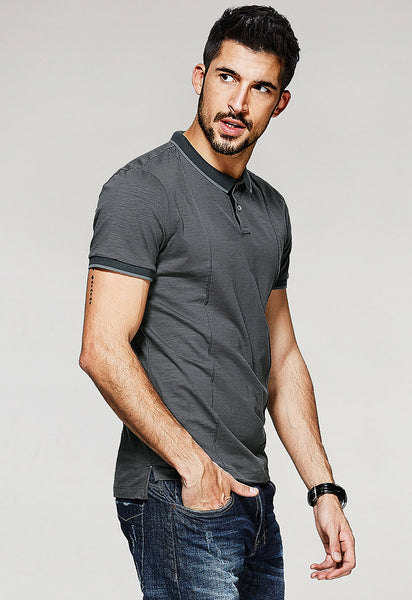 Deep Grey Polo T-Shirt - Manvsture
