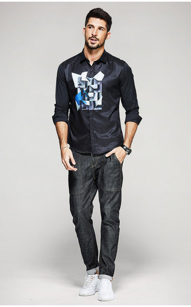 Fashion Black Shirt - Manvsture