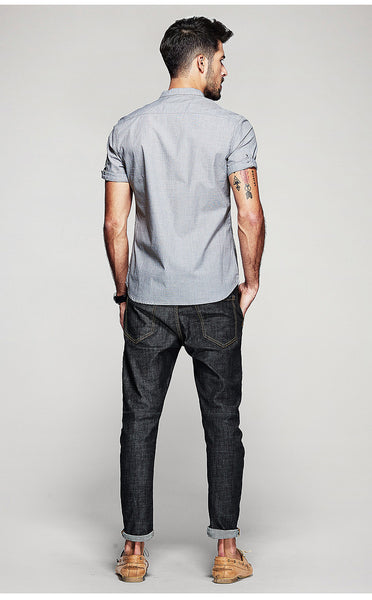 Single Breasted Slim Fit Shirt - Manvsture
