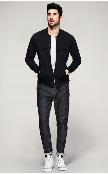 Casual Slim Fit Jacket For Men - Manvsture