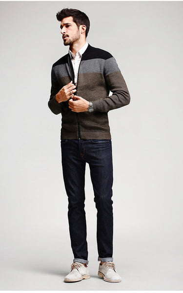 Luxury Slim Fit Cardigan For Men - Manvsture