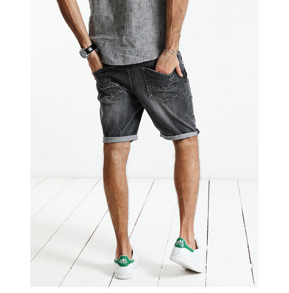 Casual Skinny Fit Denim Shorts For Men - Manvsture