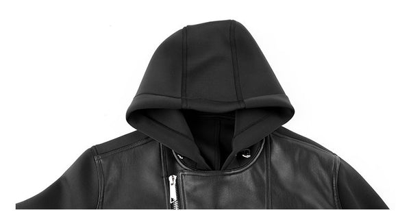 PU Leather Jacket For Men - Manvsture