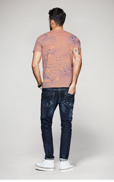 Printed Pattern T-Shirt - Manvsture