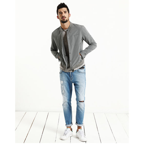 Casual Slim Fit Bomber Jacket For Men - Manvsture