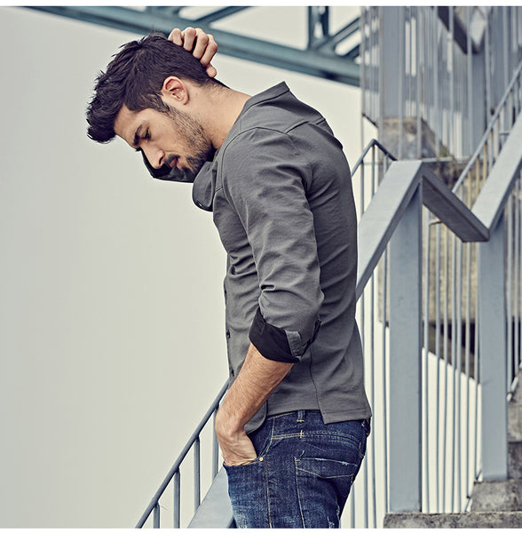 Casual Slim Fit Shirt For Men - Manvsture
