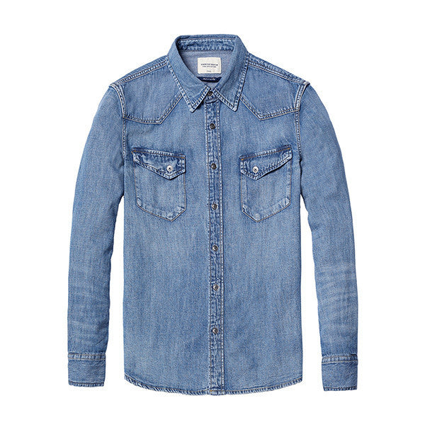 Casual Denim Shirt For Men - Manvsture