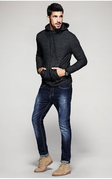 Casual Slim Fit Hoodie For Men - Manvsture