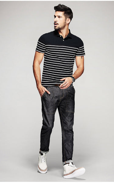 Luxury Slim Fit Polo T-Shirt For Men - Manvsture