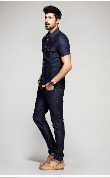 Navy Denim Shirt - Manvsture