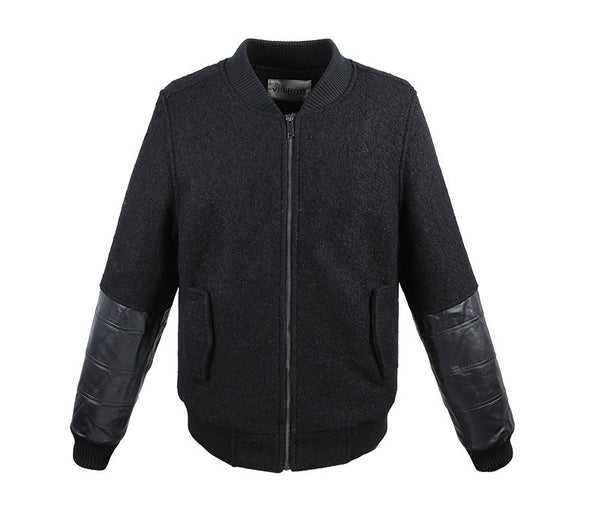 Black on Black Bomber Jacket - Manvsture