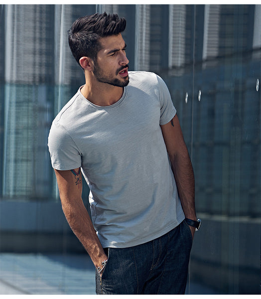 Casual Slim Fit T-Shirt For Men - Manvsture