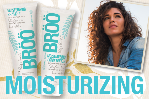 Links to Moisturizing Collection picture of shampoo, conditioner and woman