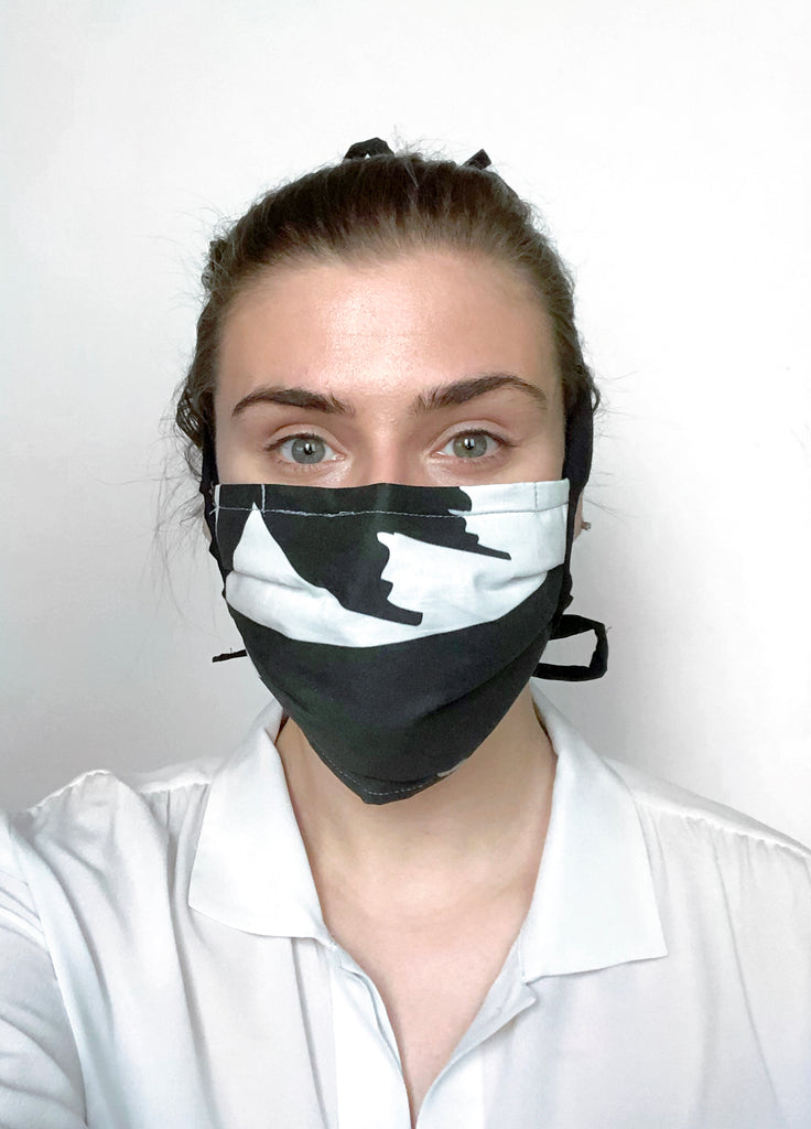 Abstract Reusable Fabric Mask